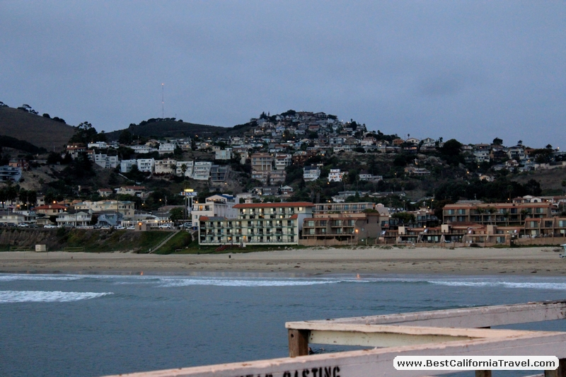 Pismo Beach, California - The city of Pismo Beach seen from the Pismo Beach pier.