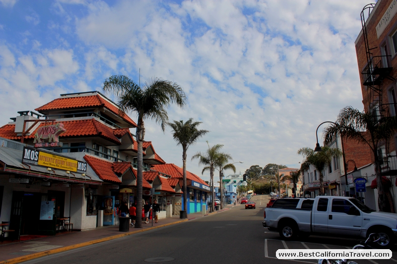 Pismo Beach, California - Pomeroy Avenue in Pismo Beach seen on a sunny morning.
