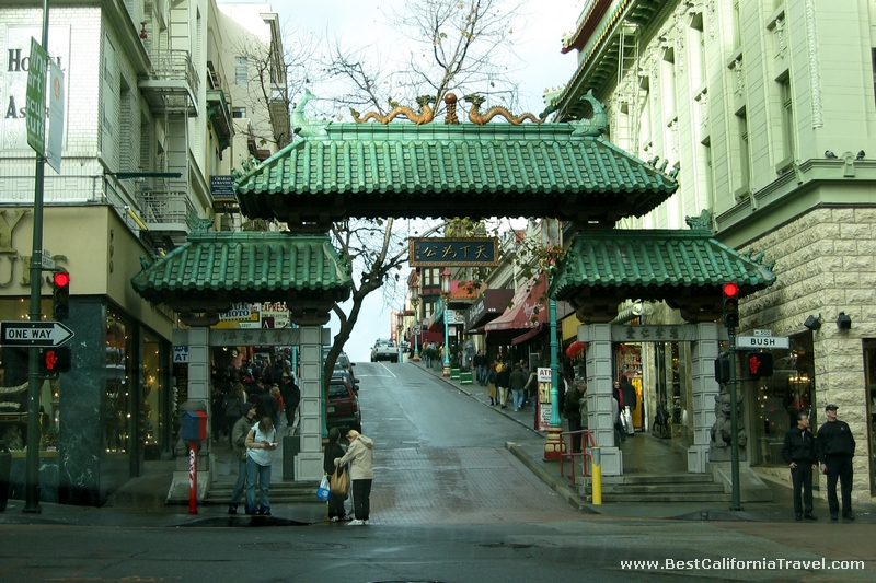 San Francisco, California - The entrance to the famous Chinatown in downtown San Francisco.