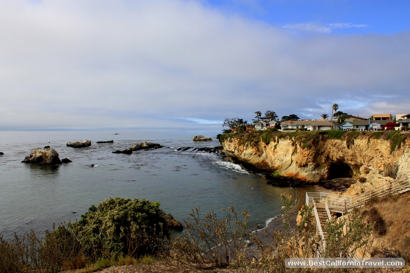Shell Beach, California - Beautiful houses overlooking the rugged cliffs at Shell Beach.