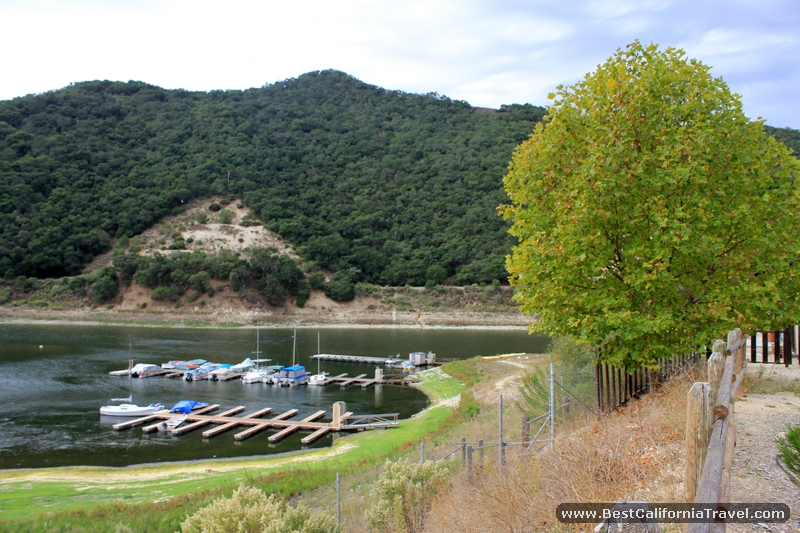 Lopez Lake, California - Small marina on Lopez Lake.